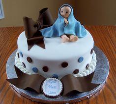 Baby Boy Christening Cake — First Communion