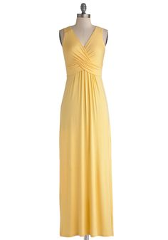 Juniper Berry Dress in Sun. Drape yourself in the casual-chic genius of this knit maxi dress! #yellow #modcloth
