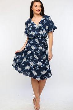 Kelly Brett Boutique - Plus Size Oasis Dress Navy, $40.00 (https://www.kellybrettboutique.com/plus-size-oasis-dress-navy/)