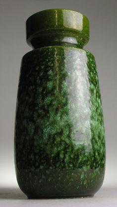Scheurich West German Pottery Modernist Mid 20 th Century Vintage Retro Green