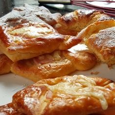 Danish Pastries Recipe Breads with plain flour, milk, instant yeast, sugar, unsalted butter, eggs, butter