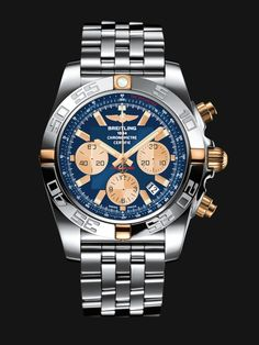 The Chronomat 44 is the leading Breitling collection. Its powerful and unique style makes it THE chronograph for all pilots.