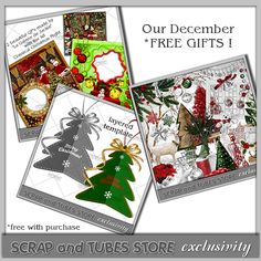 New Digital Scrapbooking Free Gifts available at Scrap and Tubes Store • http://scrapandtubes.com