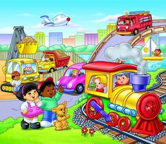 Пазл «Городской транспорт» Fisher-Price