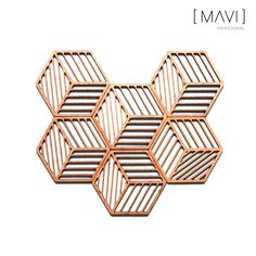 Kubus Onderzetters. #MAVIdesign #Onderzetters #Lasergesneden #Coasters #Lasercut…