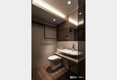 引光工宅_工業風設計個案—100裝潢網 Bathroom Lighting, Toilet, Mirror, Furniture, Home Decor, Bathroom Light Fittings, Bathroom Vanity Lighting, Flush Toilet, Decoration Home