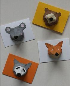 Animal Crafts For Kids, Toddler Crafts, Preschool Crafts, Diy For Kids, Fun Crafts, Wood Crafts, Egg Carton Crafts, Animal Cards, Summer Crafts