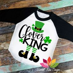 St. Patrick's Day SVG, DXF, Clover King cut file #3-leaf-clover #4-leaf-clover #all-trouble