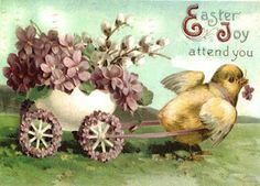 Vintage Easter card. printable. Vintage is awesome for art journals!