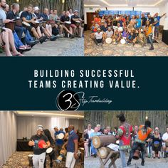 Interactive drumming team building Team Building Program, Corporate Team Building, Team Building Activities, Giant Slip And Slide, Outdoor Activities, Fun Activities, New March, Creative Skills, Teamwork