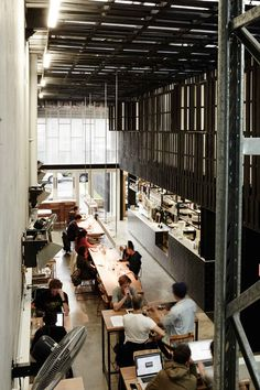 «Industry Beans» cafe & roastery in Fitzroy, Melbourne, Australia - by Figureground