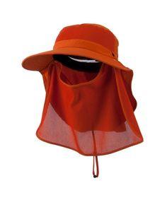 d677dfc7e5e1f UV 50+ Talson Large Bill Flap Hat with Detachable Inner Flap Orange  CI11FITPMDZ