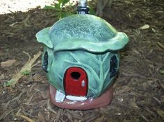 CERAMIC CABBAGE TOAD HOUSE FOR YOUR GNOME GARDEN ORNAMENT