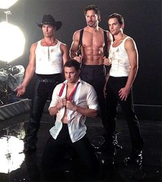 Magic Mike ~ Channing, Matthew and the True Blood guy with the best abs ever, Joe!!! Can't wait to see this movie!!!