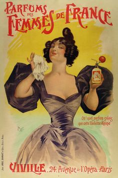 French Perfume Advert Vintage Travel Poster | Popcorn Posters