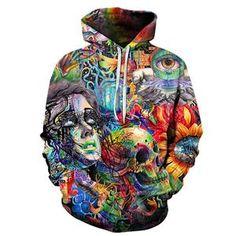 d92c13b5 Paint Skull 3D Printed Hoodies Men Women Sweatshirts By ZOOTOP BEAR