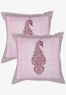 Kalangi Boota Printed Cushion Covers(Set Of 2)
