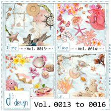 Vol. 0013 to 0016 - Beach Mix  by Doudou's Design  #CUdigitals cudigitals.comcu commercialdigitalscrapscrapbookgraphics #digiscrap