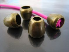Finding  4 pcs Antique Bronze Plastic Round Tone by Drawcord18, $1.49