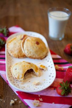 Strawberry Rhubarb Hand Pies - The Crepes of Wrath