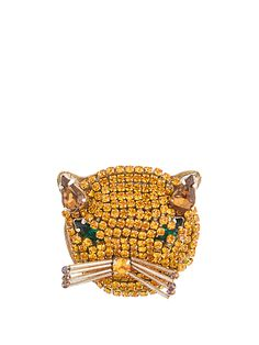 Click here to buy Gucci Cat crystal-embellished brooch at MATCHESFASHION.COM