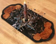 Wool-Applique-Pumpkin-Trio-Runner-Candle-Mat-Primitive-Gatherings-Pattern-8-x-18