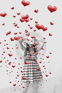 Women and hearts coming out by Graciela Rossi, via Dreamstime