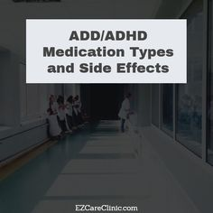 ADD/ADHD Medication Types and Side Effects Adult Attention Deficit Disorder (ADD) is a condition that can have a number of symptoms including lack of concentration, disorganization, mood swings, outbursts, and anxiety. Many adults don't realize they have the condition because they believe that only children or teenagers can have ADD or ADHD.   #ADD #addadderall #addclinic #adddiagnosis #adddrugs #addmedications #ADHD #adhdadderall #adhdclinic #adhddiagnosis #ADHDMedica