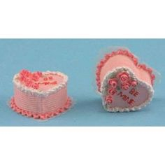 Tiny Be Mine Cakes - Decorating a Dollhouse for Valentine's Day