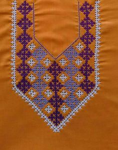 Kasuti Embroidery, Embroidery Neck Designs, Hand Embroidery Flowers, Embroidery Works, Indian Embroidery, Hand Embroidery Stitches, Modern Embroidery, Embroidery Patterns, Machine Embroidery