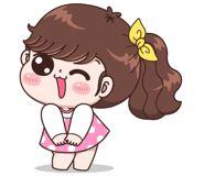 Boobib Lovely Daily (... | 光頭賣 - 最大的LINE貼圖代購網 | 全館通通降五元 VIP儲值300送40 Baby Girl Earrings, Cartoon Clip, Girl Humor, Cute Stickers, Emoji, Gifs, Clip Art, Kawaii, Random