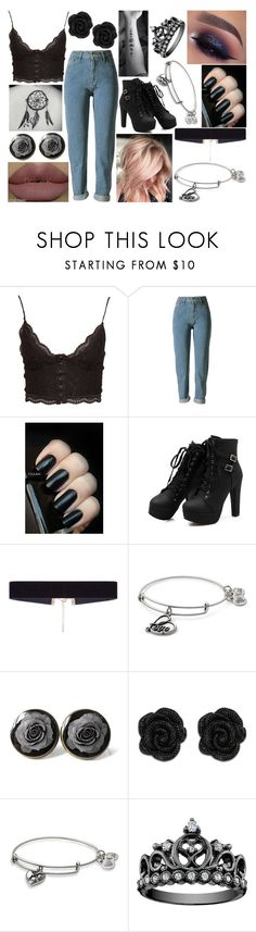 """""""OOTD-Monday, February 27"""" by kenziebandgeek ❤ liked on Polyvore featuring NLY Trend, 8 Other Reasons and Alex and Ani"""