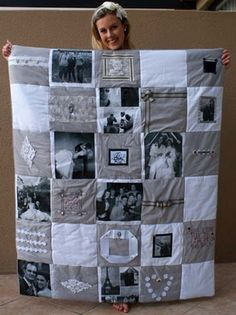 DIY Photo Quilt!!! Want to make one! - LOVE THIS!!! - Click image to find more DIY & Crafts Pinterest pins