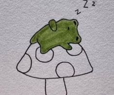 11 images about green ^-^ on We Heart It | See more about aesthetic, alternative and indie Indie Drawings, Cool Art Drawings, Doodle Drawings, Art Drawings Sketches, Doodle Art, Easy Drawings, Frog Drawing, Frog Art, Indie Art