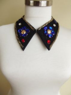 detachable peter pan collar necklace beads bridal by trendycollars, $18.90