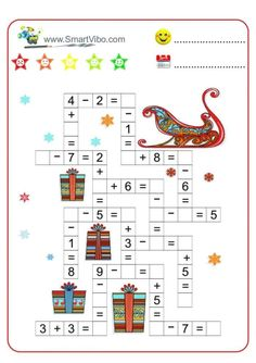 Christmas Math, Christmas Activities For Kids, Math For Kids, Teaching The Alphabet, Teaching Kids, Kids Learning, Kids Math Worksheets, Preschool Activities, Life Skills Kids