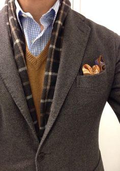 Keeping it 100. 100% cotton Boglioli jacket 100% cotton J. Crew shirt 100% Vicuña Alan Payne sweater 100% cashmere Johnstons...