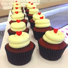 Fluffy vanilla cream cheese on a classic red velvet topped with a fondant heart. Available at Twelve Cupcakes Red Velvet Top, Velvet Tops, Vanilla Cream, Best Sellers, Fondant, Cupcakes, Cheese, Heart, Classic