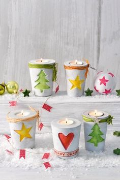 Concrete pouring is in line with the trend. We show you the basics and make a . - Concrete pouring is in line with the trend. Here we show you the basics and make a Christmas candle - Christmas Candles, Noel Christmas, Christmas Crafts, Christmas Decorations, Concrete Crafts, Concrete Projects, Diy Projects, Diy For Kids, Crafts For Kids