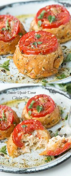 I cannot believe how easy these Tuscan Tomato Upside Down Chicken Pies were and yet they came out so beautiful!