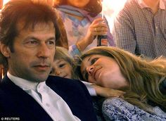 Pakistan cricket legend Imran Khan (left) and heiress Jemima Goldsmith (right) divorced ten years ago