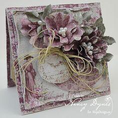 Tattered Treasures: Maja Design 'Time Flies' Card