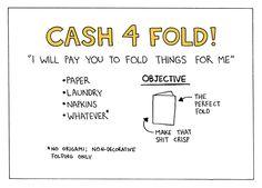 cash 4 fold! no origami; non-decorative folding only
