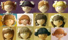 Peinados de niña en porcelana