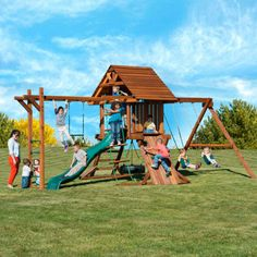 Costco: Kid's Creations Two Ring Adventure Premium Redwood Playset - Installation Included or Do It Yourself