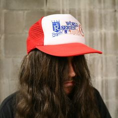 Authentic MLB 1985 World Series Kansas City Royals vs. Kansas City Royals, World Series, Snapback Hats, Cardinals, A Boutique, St Louis, Mlb, Outfit Of The Day, Vintage Items