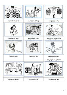 leading a tractor bike with a basket … – Bag Types Sunday School Activities, Preschool Learning Activities, Teaching Resources, School Worksheets, Kindergarten Worksheets, Teaching Materials, Study Materials, Malay Language, Indonesian Language