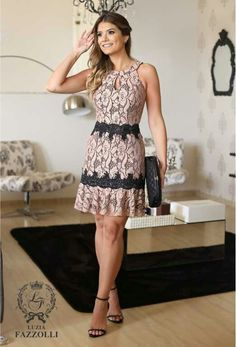 Very cute would wear it anytime Dress Outfits, Casual Dresses, Short Dresses, Fashion Dresses, Summer Dresses, Formal Dresses, Chic Dress, Lace Dress, Mode Chic