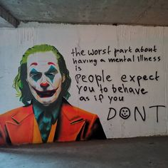 The worst part of having a mental illness is people expect you to behave as if you dont, Joker, mental disorder Joker Poster, Joaquin Phoenix, Gotham City, Le Joker Batman, Joker Heath, Gotham Batman, Batman Art, Batman Robin, Joker Kunst