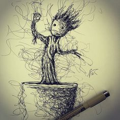 Jimmy Mätlik Turned Accidental Sketching Mistake Into Awesome Scribble-Artworks